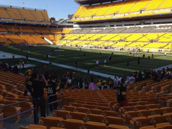 Heinz Field, section: 142, row: K, seat: 9