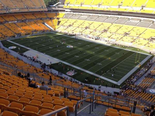 Heinz Field, section: 541, row: S, seat: 9