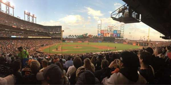 Oracle Park, section: 110, row: 33, seat: 15