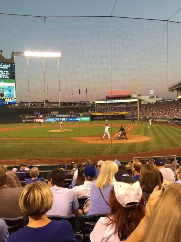 Kauffman Stadium, section: 125, row: H, seat: 7