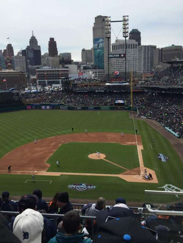 Comerica Park, section: 332, row: 4, seat: 5