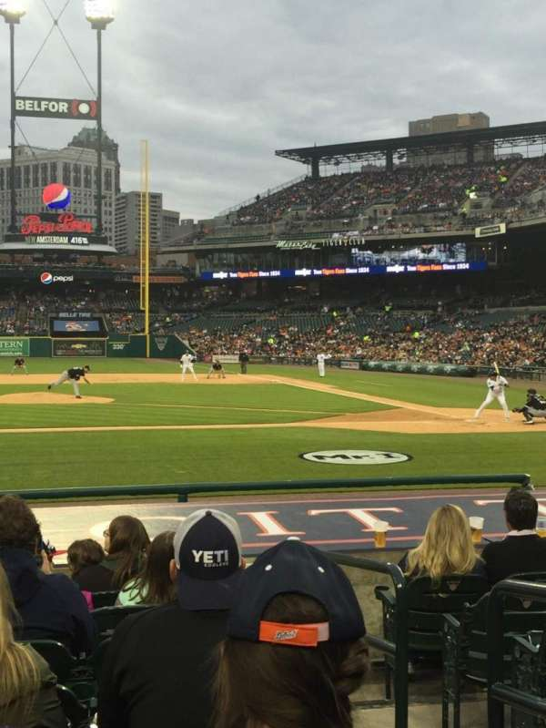 Comerica Park, section: 133, row: 14, seat: 2