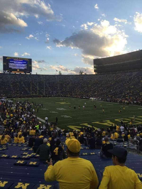 Michigan Stadium, section: 37, row: 34, seat: 3