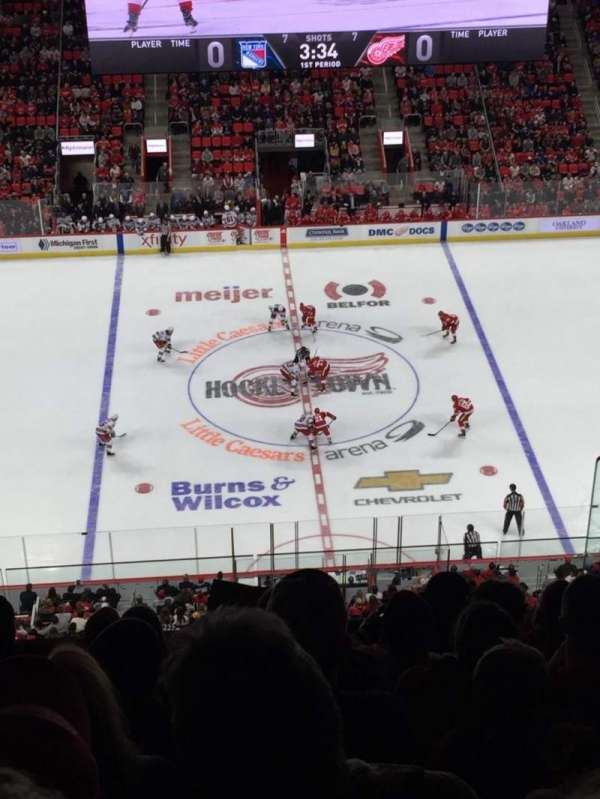 Little Caesars Arena, section: 212, row: 7, seat: 6