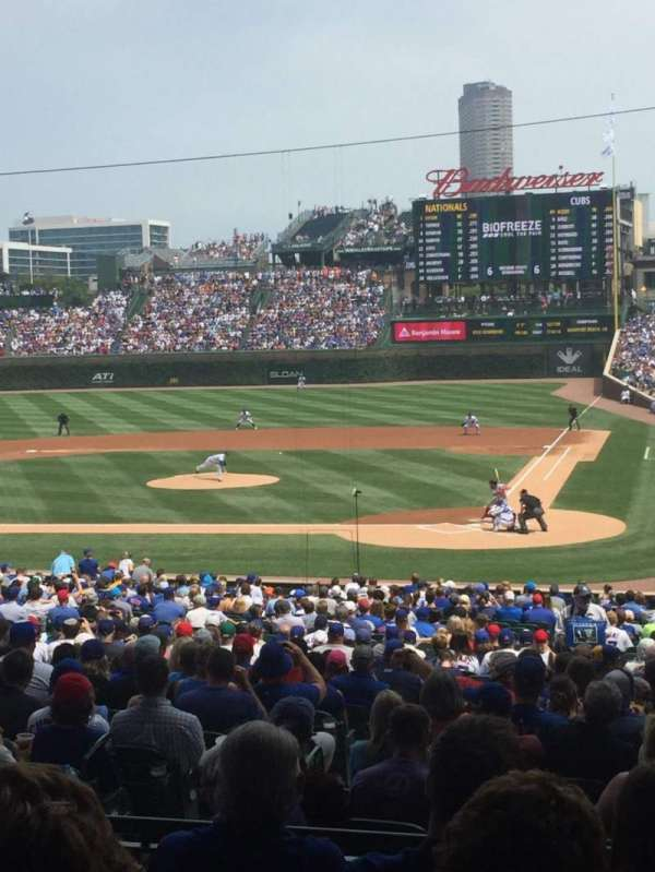 Wrigley Field, section: 214, row: 5, seat: 14
