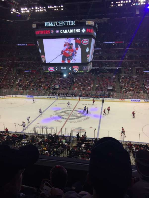 BB&T Center, section: Club 17, row: 3, seat: 11