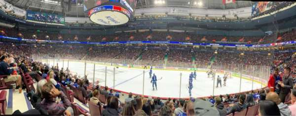 Rogers Arena, section: 116, row: 8, seat: 5
