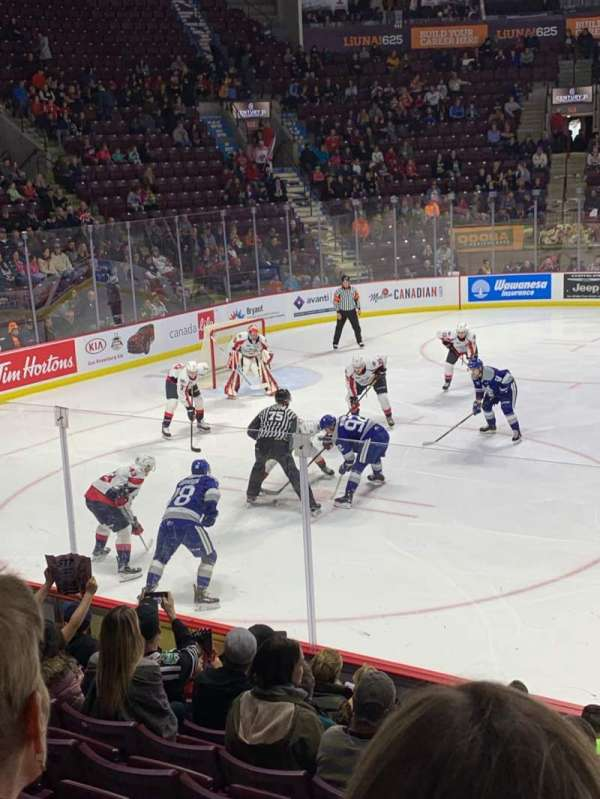 WFCU Centre, section: 105, row: I, seat: 11