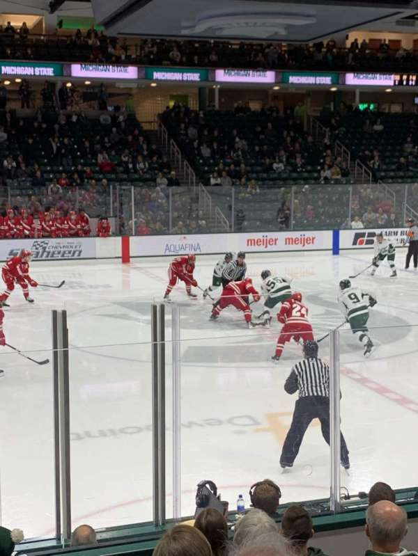 Munn Ice Arena, section: V, row: 9, seat: 5