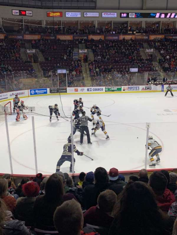 WFCU Centre, section: 106, row: I, seat: 6