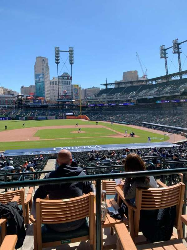 Comerica Park, section: 133A, row: D, seat: 4