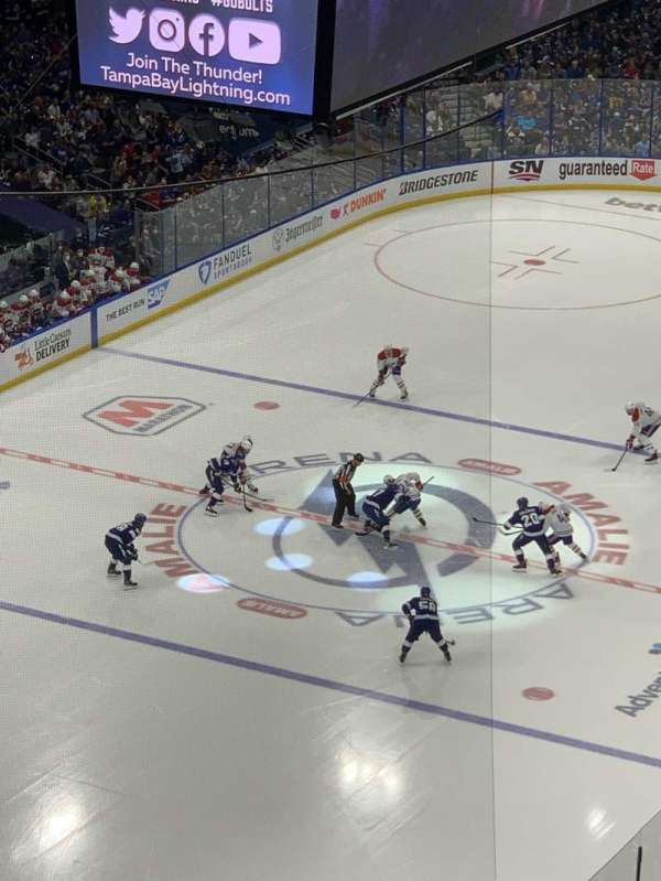 Amalie Arena, section: 321, row: L, seat: 14