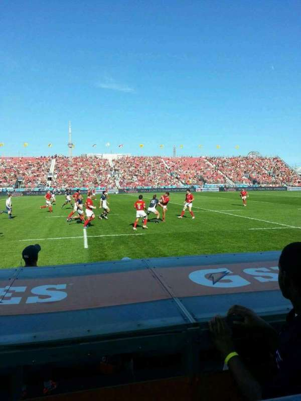 BMO Field, section: 124a, row: 1, seat: 3