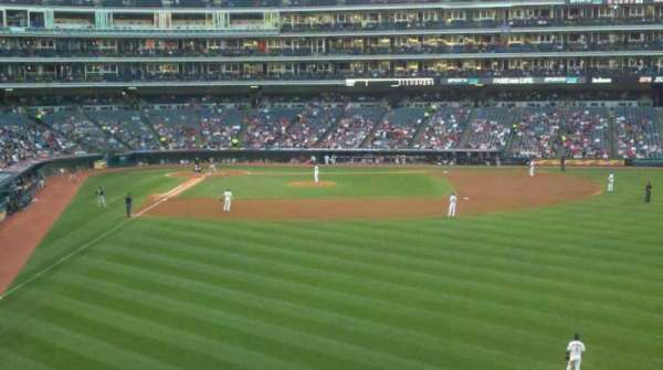 Progressive Field, section: 309, row: e, seat: 23