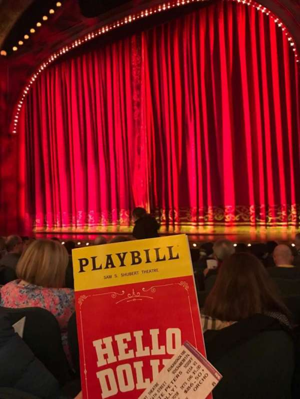 Shubert Theatre, section: Orchestra R, row: J, seat: 8