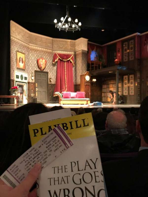 Lyceum Theatre (Broadway), section: Orchestra C, row: F, seat: 113