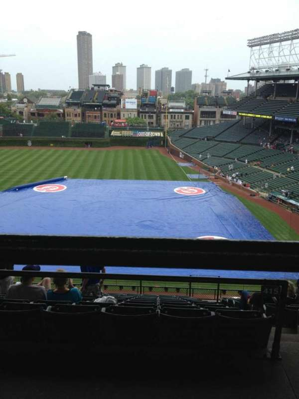 Wrigley Field, section: 412L, row: 1, seat: 8