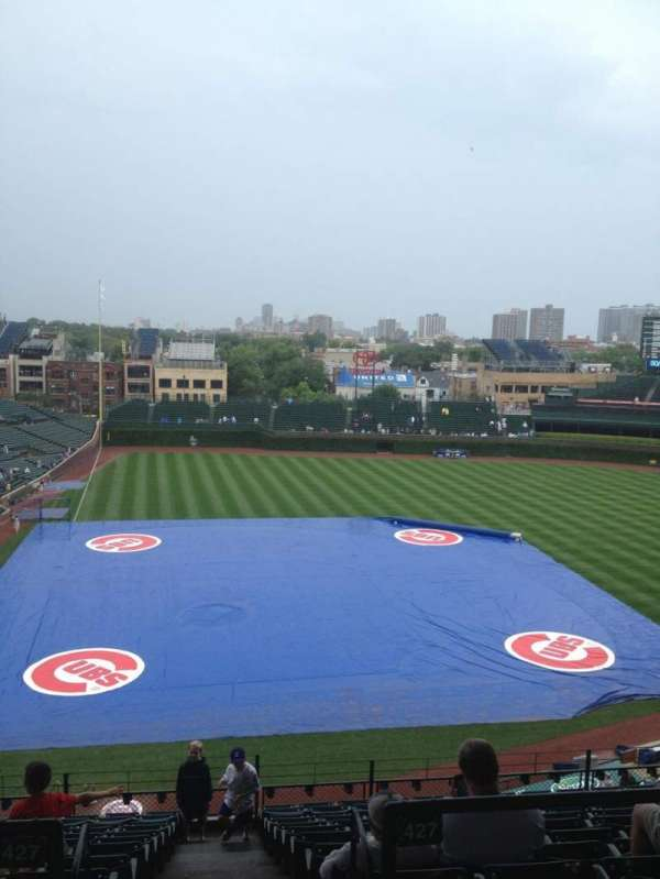 Wrigley Field, section: 422R, row: 1, seat: 15
