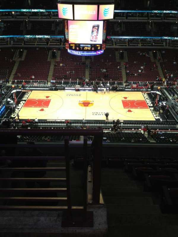 United Center, section: 317, row: 9, seat: 23