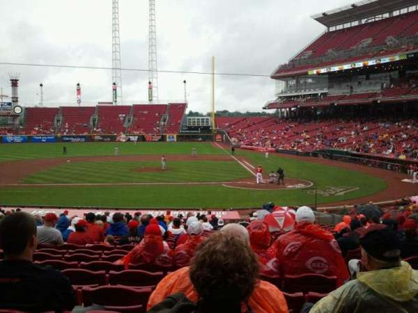 Great American Ball Park, section: 119, row: FF, seat: 6