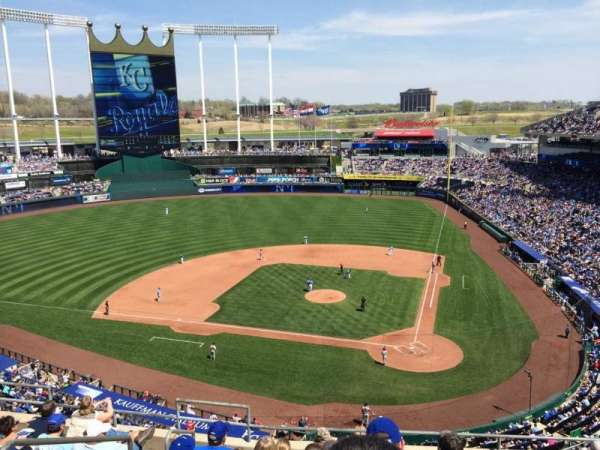 Kauffman Stadium, section: 415, row: J, seat: 3
