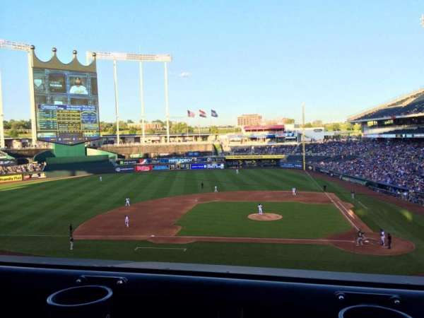Kauffman Stadium, section: 309, row: A, seat: 5