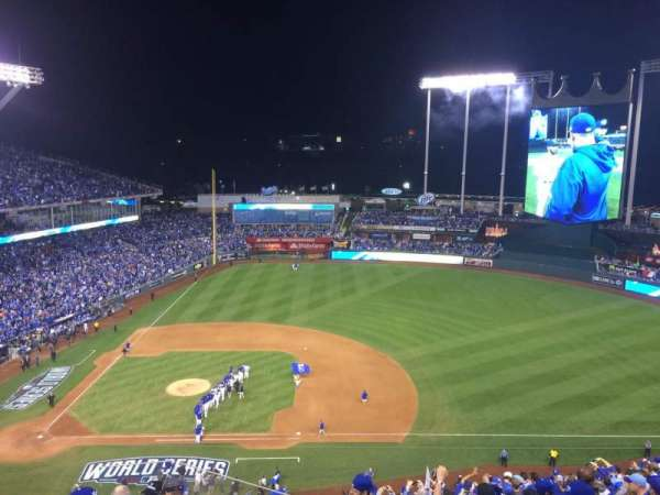Kauffman Stadium, section: 429, row: AA, seat: 5