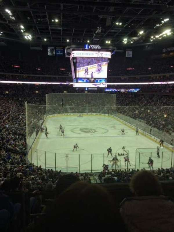 Nationwide Arena, section: 121, row: KK, seat: 2