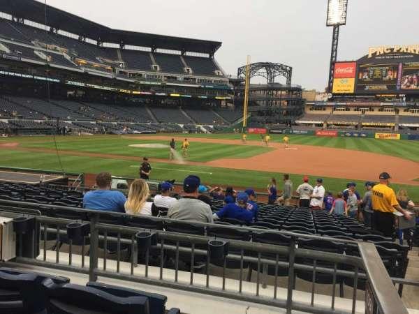 PNC Park, section: 109, row: C, seat: 1