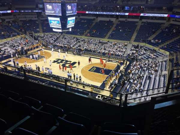 Petersen Events Center, section: 219, row: C, seat: 1