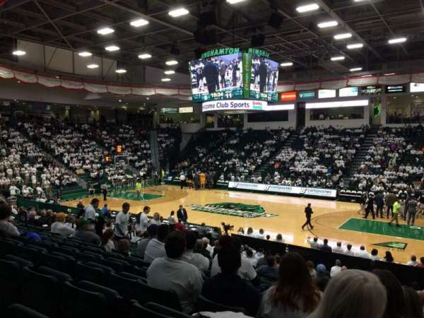 Binghamton University Events Center, section: 116, row: U, seat: 18