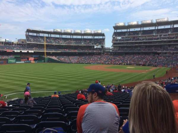 Nationals Park, section: 108, row: NN, seat: 19