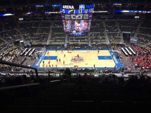 PPG Paints Arena, section: 202, row: M, seat: 14