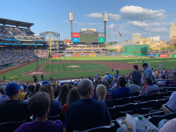 PNC Park, section: 113, row: V, seat: 9