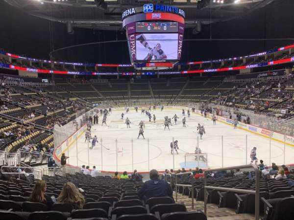 PPG Paints Arena, section: 107, row: T, seat: 2