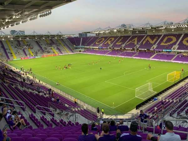 Exploria Stadium, section: 109, row: U, seat: 4