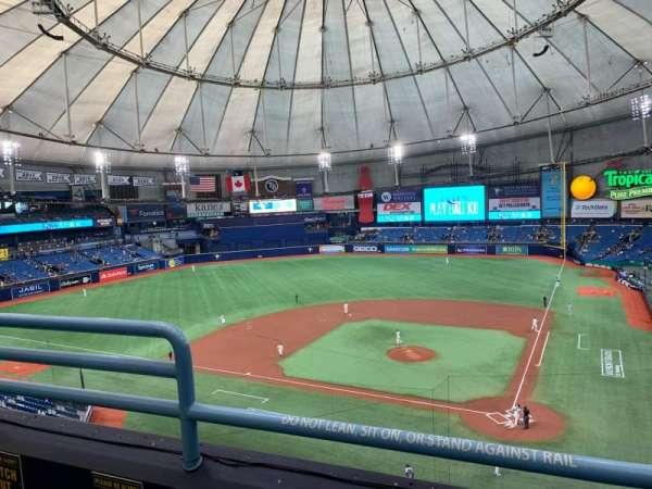 Tropicana Field, section: 305, row: B, seat: 3
