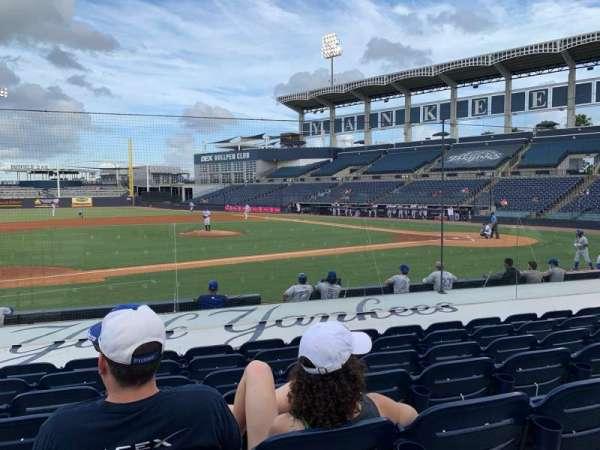 George M. Steinbrenner Field, section: 116, row: JJ, seat: 18