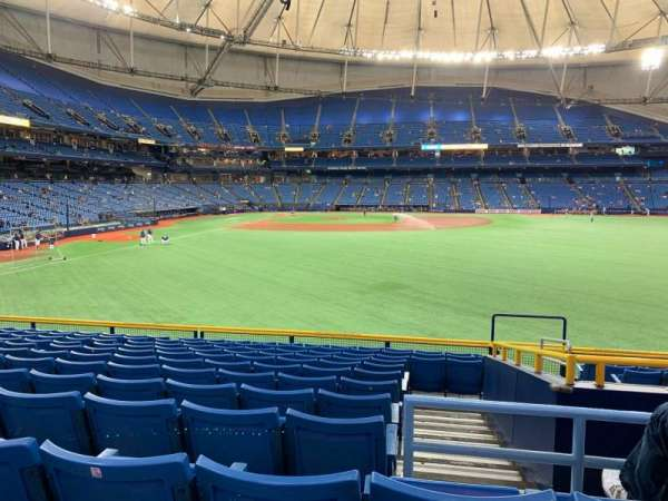 Tropicana Field, section: 144, row: EE, seat: 22