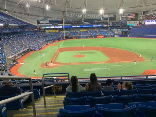 Tropicana Field, section: 210, row: G, seat: 1