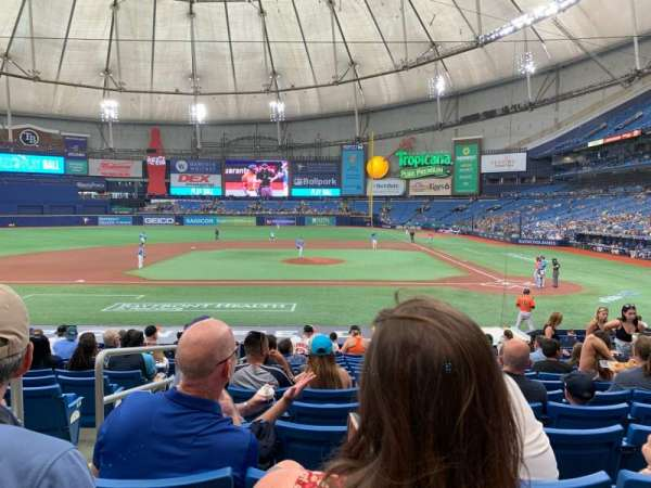 Tropicana Field, section: 111, row: X, seat: 2