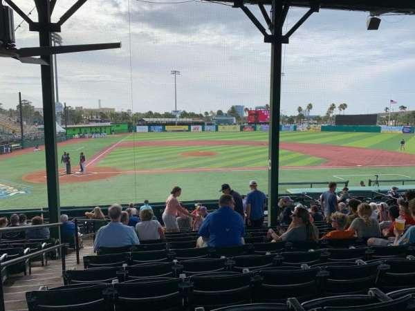 Jackie Robinson Ballpark, section: C, row: 13, seat: 2