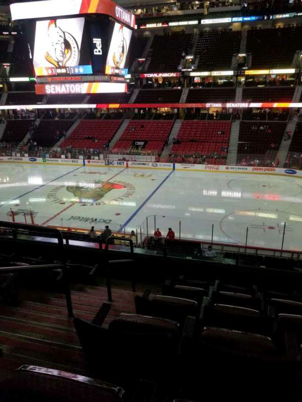 Canadian Tire Centre, section: 206, row: f, seat: 17
