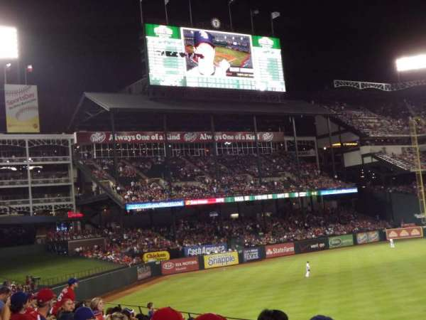 Globe Life Park in Arlington, section: 8, row: 11, seat: 1