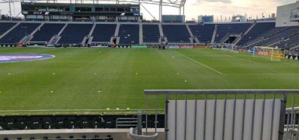 Talen Energy Stadium, section: 125, row: L, seat: 1