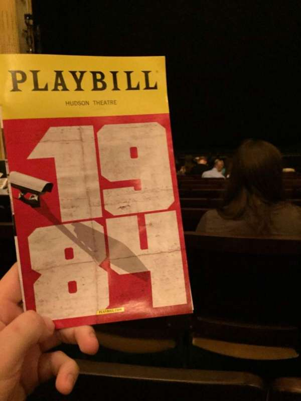 Hudson Theatre, section: Orch, row: M, seat: 110