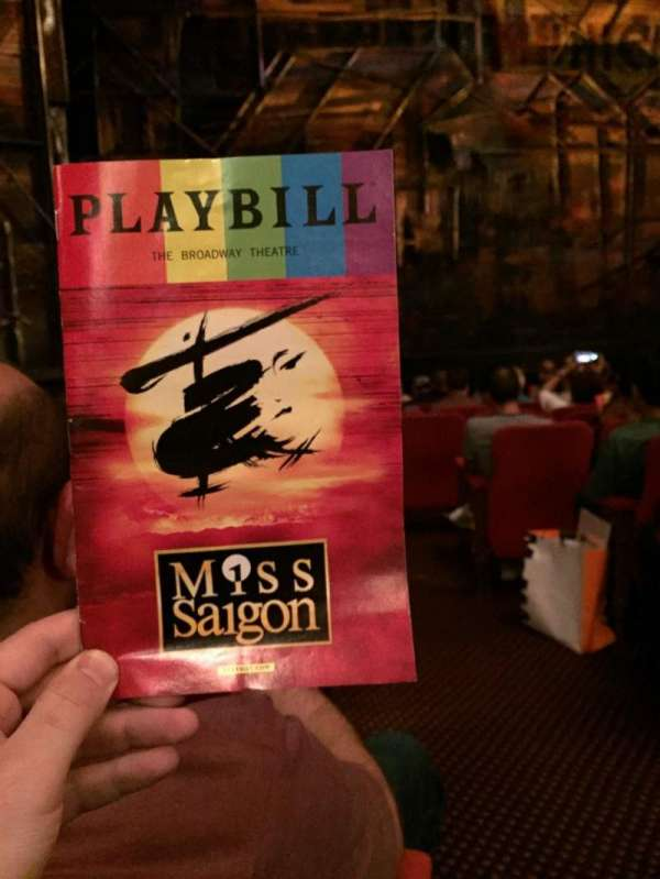 Broadway Theatre - 53rd Street, section: Orchestra L, row: K, seat: 2