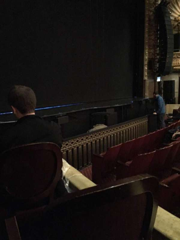 Palace Theatre (Broadway), section: Orch, row: E, seat: 1