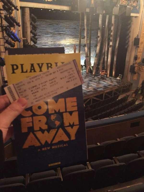 Gerald Schoenfeld Theatre, section: Mezzanine L, row: E, seat: 25