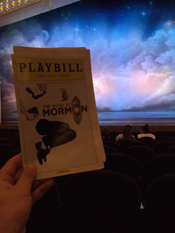 Eugene O'Neill Theatre, section: Orchestra C, row: J, seat: 109